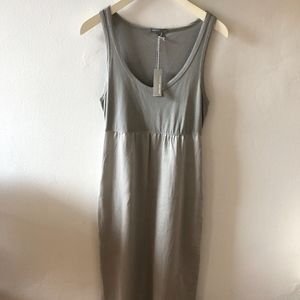 James Perse Long Silver/Dove Gray Dress Size 2